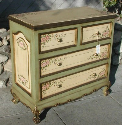 Pink Rose Dresser  R Furniture by Olinda Romani Lance