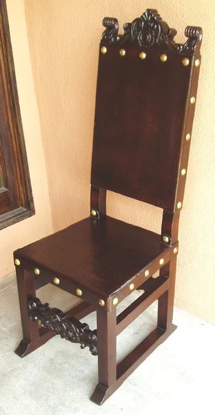 Spanish Friar Dining Leather Side Chair  R Furniture by
