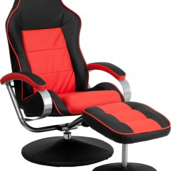 Home Theater Chair Covers Commode Rental Black & Red Racing W/ Tension Control Recline | Ch-125696-1-gg — Man Cave Authority