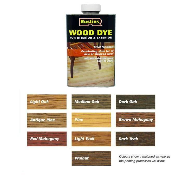 Wood Dye Colour Chart Homeschoolingforfree