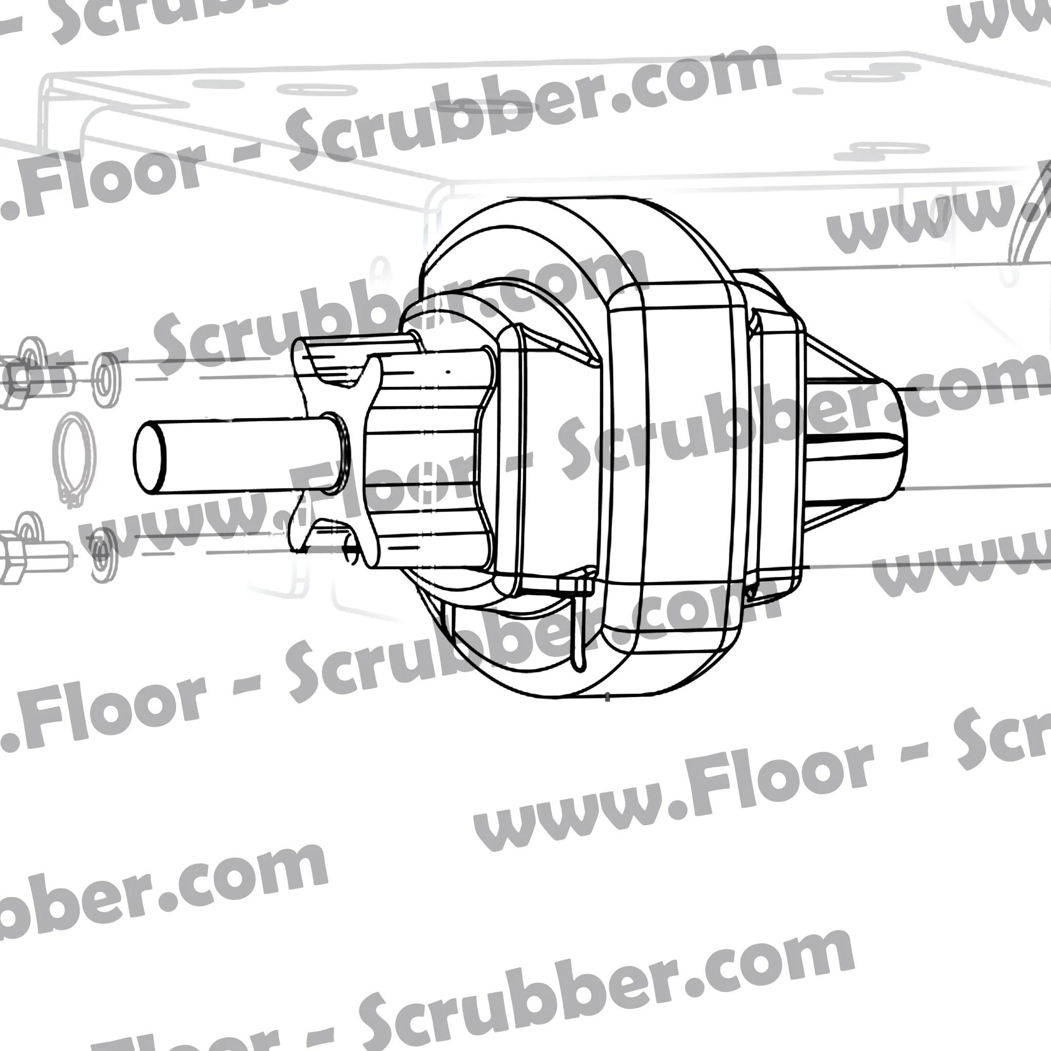 medium resolution of 9096548000 clarke focus ii l20 drive motor