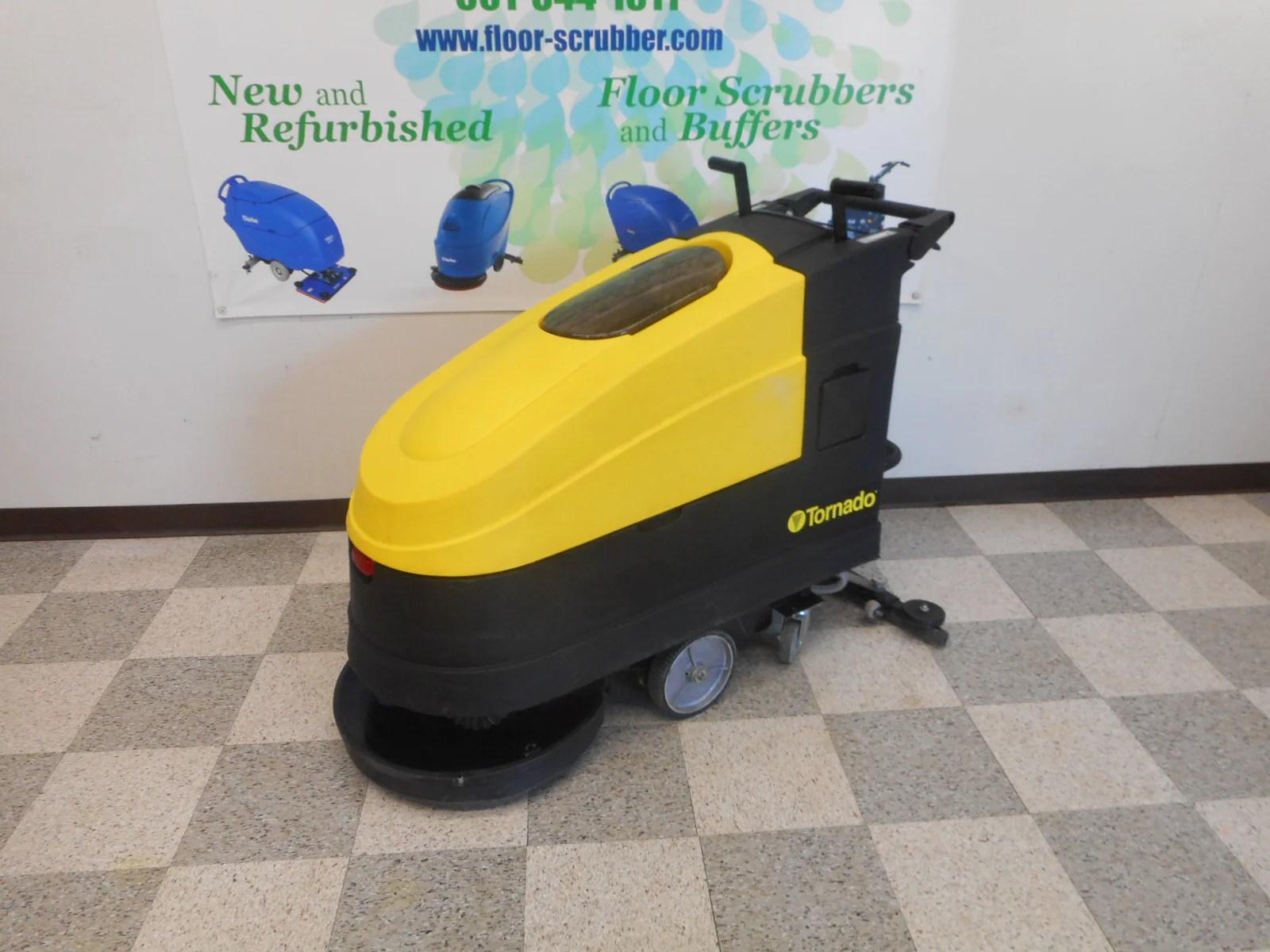 tornado ez floorkeeper 20 traction drive walk behind floor scrubber cleaner