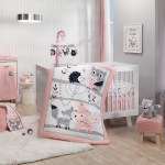 Forever Friends White Pink Gray Woodland Fox Owl 4 Piece Nursery Cr