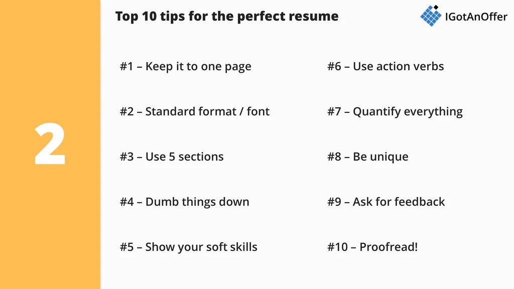 consulting resume tips