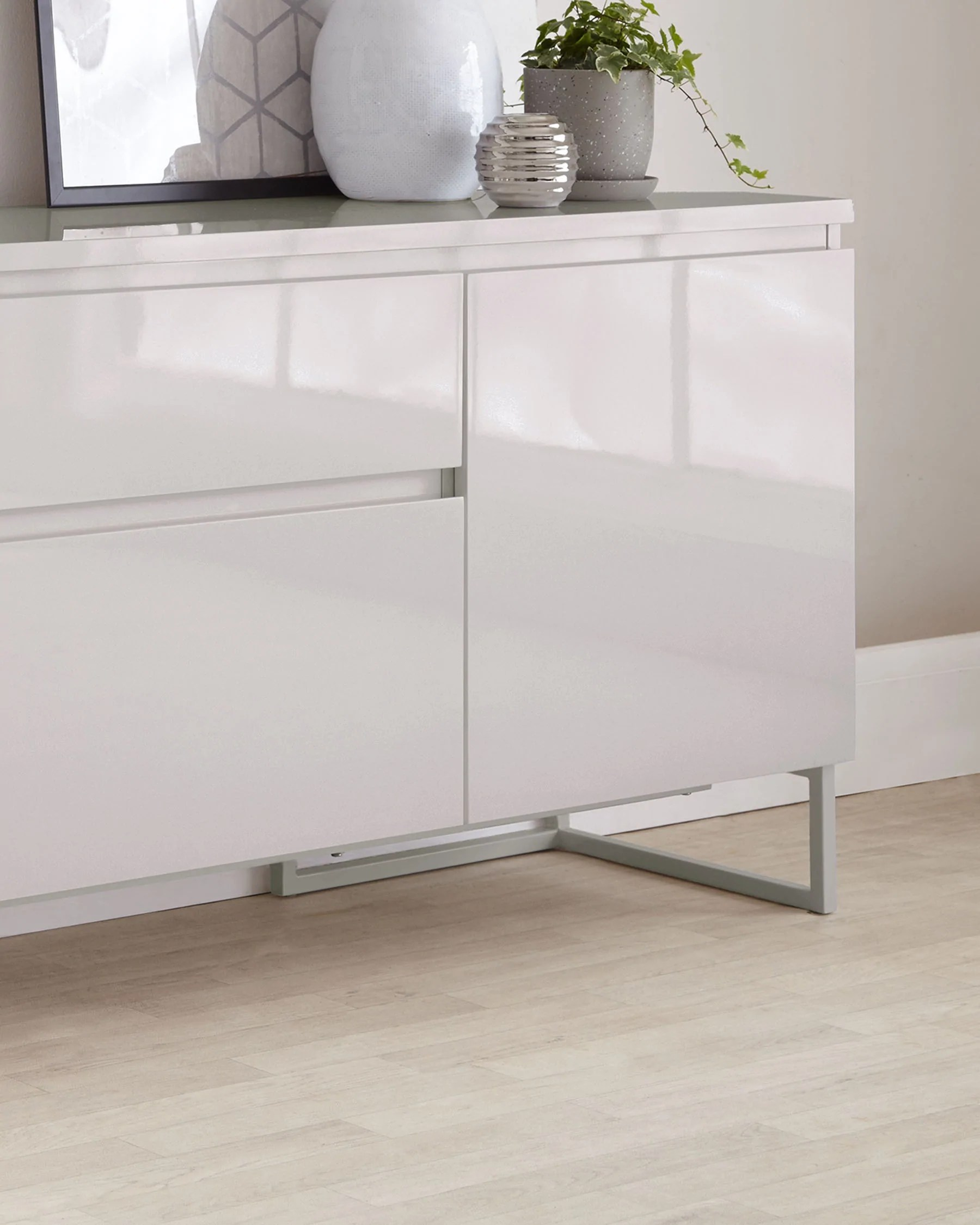 Sideboard Modern Modern Grey Gloss Sideboard From Danetti