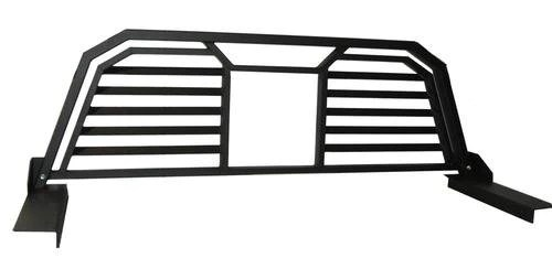 spyder industries 2005 2014 nissan frontier headache rack louvered with window opening 611002