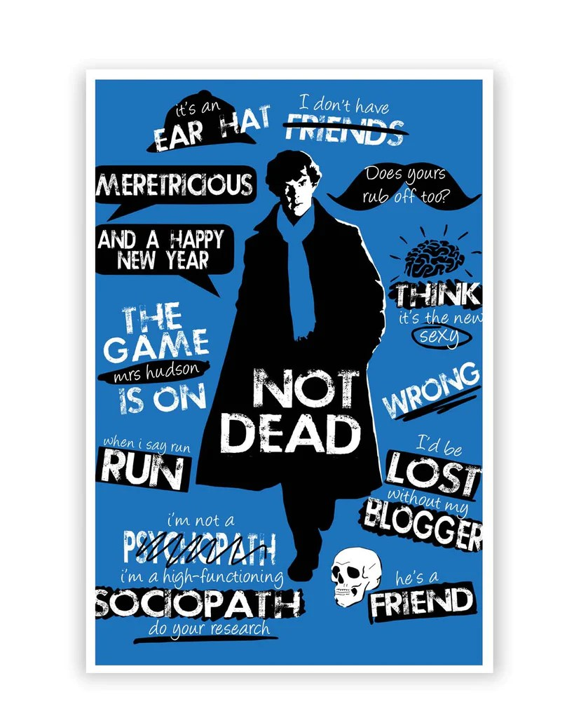 Posters Online India   Sherlock Holmes Typography Quotes ...