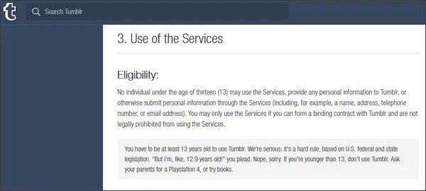 Tumblr Terms of Service