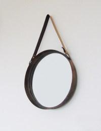 Industrial Rustic Round Mirror  The Den & Now