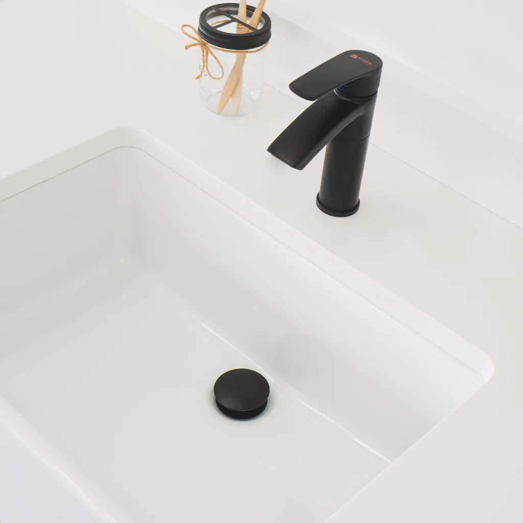 pop up drain assembly with cap no overflow for vessel sinks