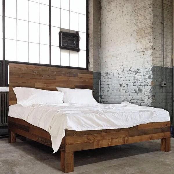 Original Cedar Barnwood Style Bed frame  Headboard Set