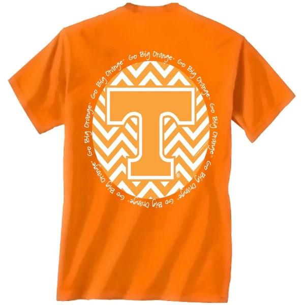 Tennessee Vols Volunteer Chevron Big Orange Logo Girlie