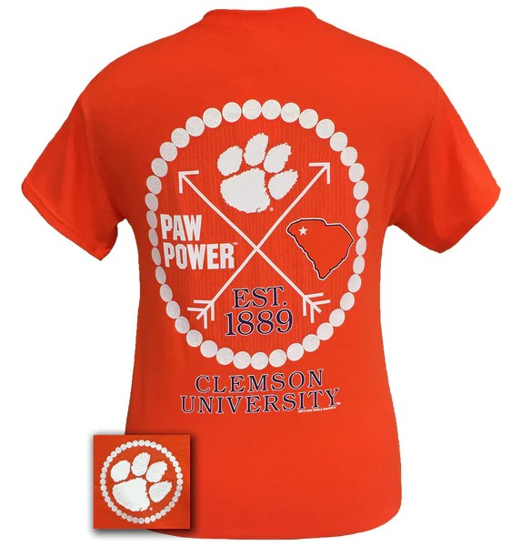 New South Carolina Clemson Tigers Arrow Peals T Shirt