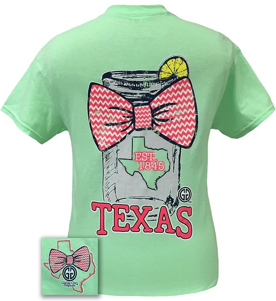Girlie Girl Originals Texas Chevron Mason Jar Preppy State
