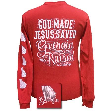 Georgia Raised Jesus Saved Chevron State Girlie Bright