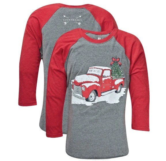 Southern Couture Lightheart Merry Christmas Truck Front