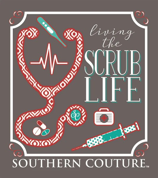 Cute Girl Wallpaper With Attitude Quotes Southern Couture Preppy Living The Scrub Life Nurse T