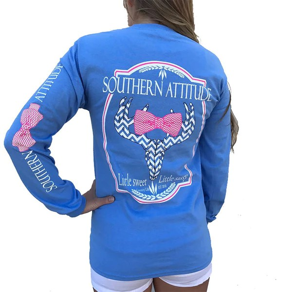 Download Country Life Outfitters Blue Southern Attitude Chevron ...