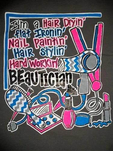 Southern Chics Funny Hair Dry Stylist Chevron Beautician
