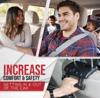 2 in 1 Car Seat Hand Grip Plus Hooks