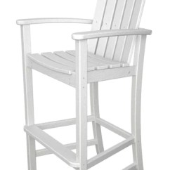Dining Chair Covers Home Depot Office Waiting Chairs Polywood™ Adirondack Bar Height – Leisure