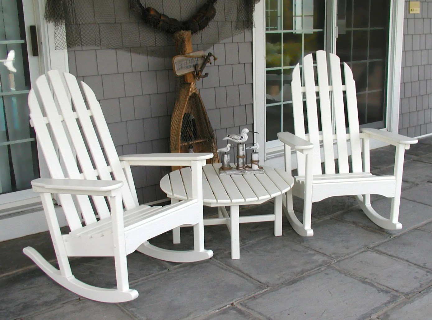 outdoor wooden rocking chairs white folding chair dining polywood classic adirondack rocker  leisure depot