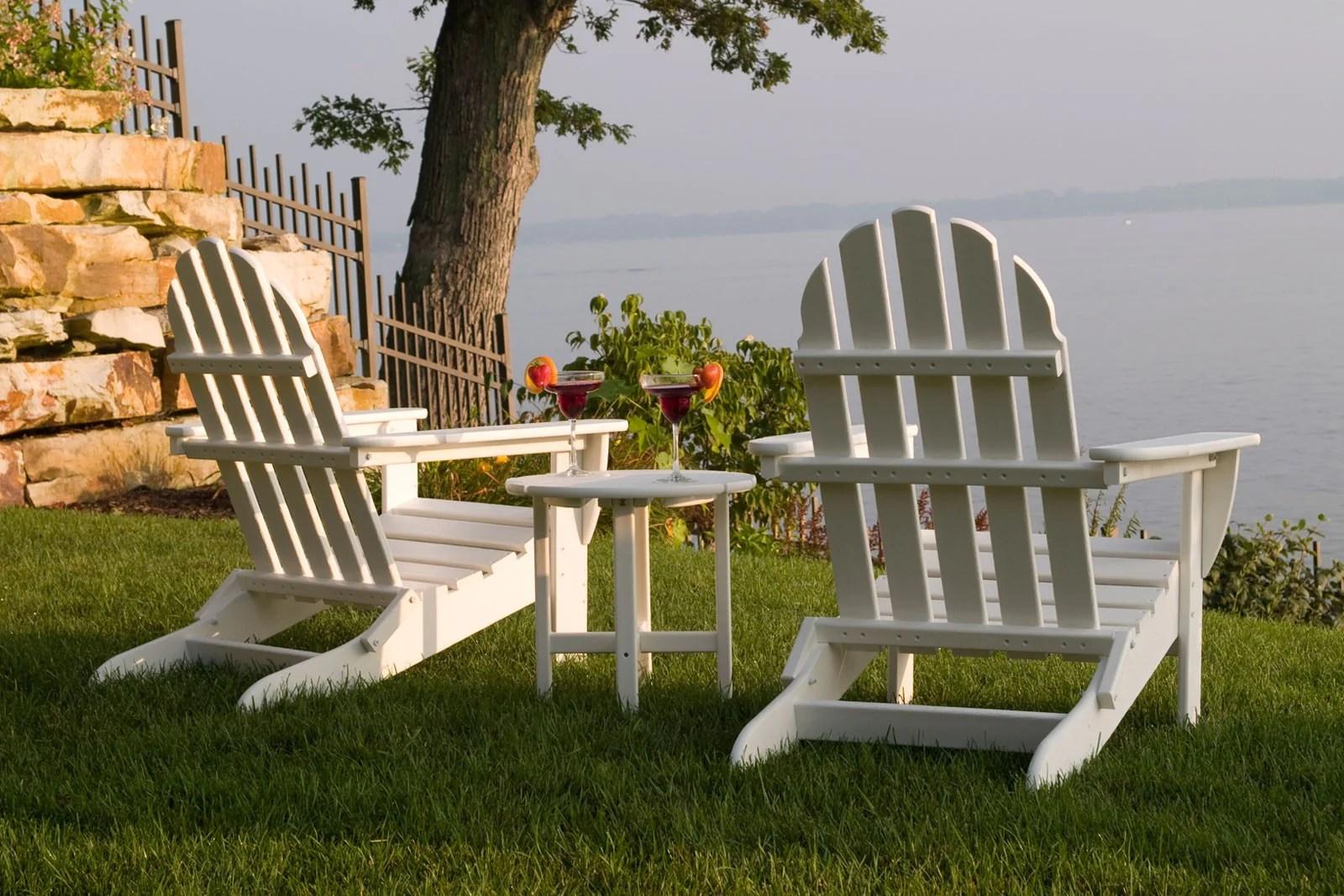 polywood classic adirondack chair white wrought iron kitchen chairs folding  leisure depot