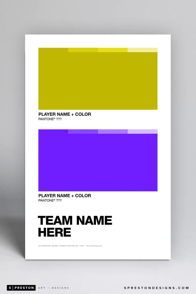 https sprestondesigns com products custom team pantone art poster