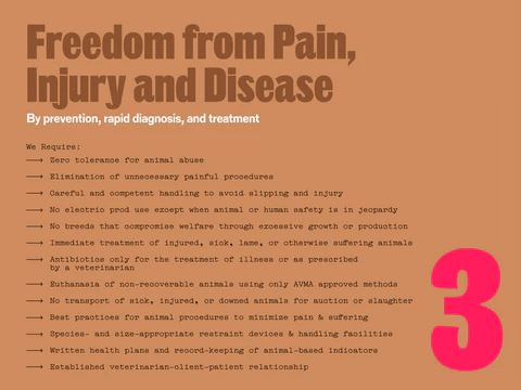 Freedom from pain, injury and disease