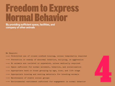 Freedom to express normal behaviour