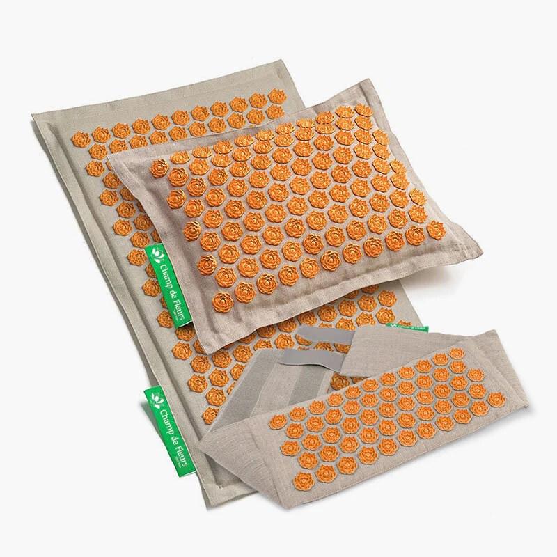 set champ de fleurs actif naturel orange
