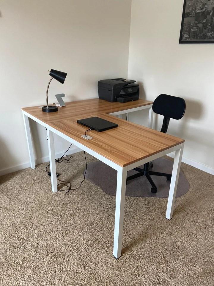 Shw Home Office 55 X60 Large L Shaped Corner Desk : office, large, shaped, corner, Office, 55