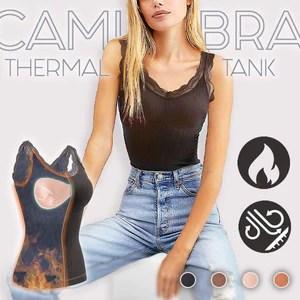 Cami-Bra Thermal Lace Tank
