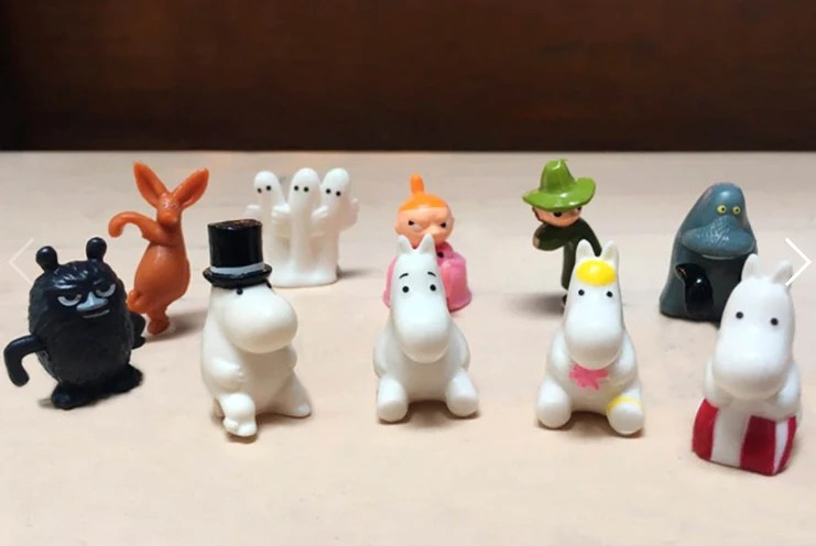 The Story Of Moomin Valley Taiwan Family Mart Limited 10 Cup Edge Trading Figure Set
