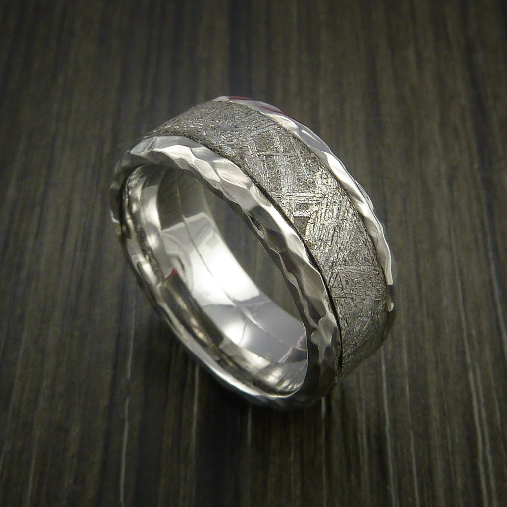 Gibeon Meteorite In Cobalt Chrome Wedding Band Made To Any