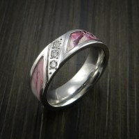 King's Camo PINK SHADOW Ring with Diamond setting in ...