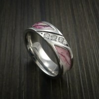 Kings Camo PINK SHADOW Ring with Diamonds in Cobalt Chrome