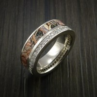 King's Camo White Gold Eternity Band Ring with 30 ...