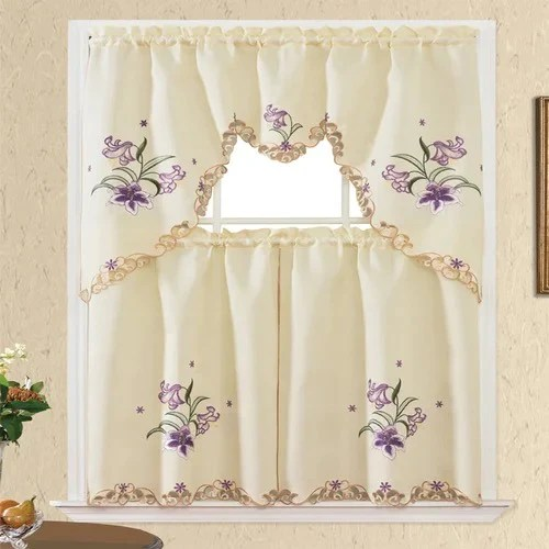 estelle 3 piece kitchen curtain sets