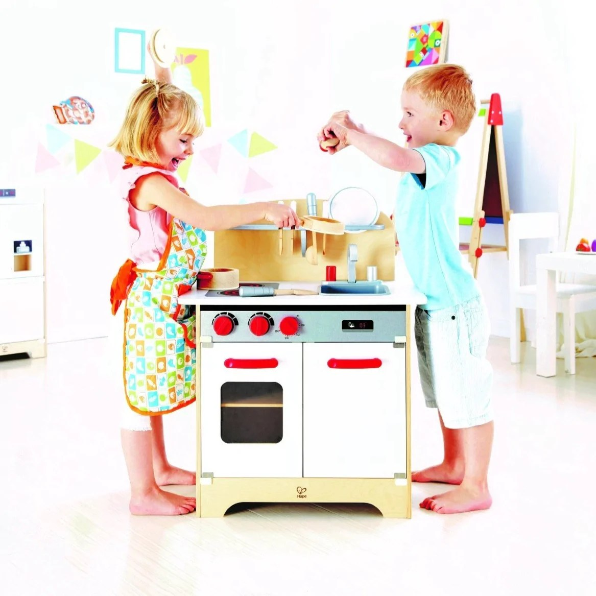 Giochi Educativi In Legno Hape E3144 Cucina Attrezzata City Cafe Play Kitchen Wealthitglobal Com
