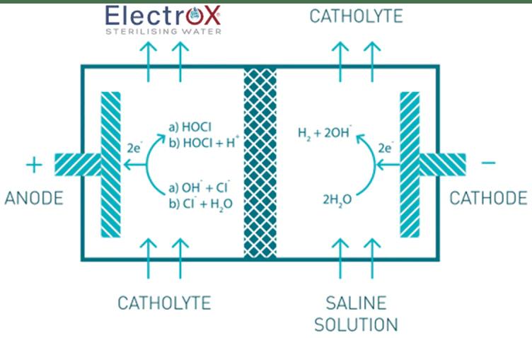 diagram explaining the Electrox process