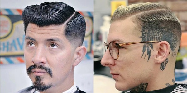 men's hairstyles with side partings