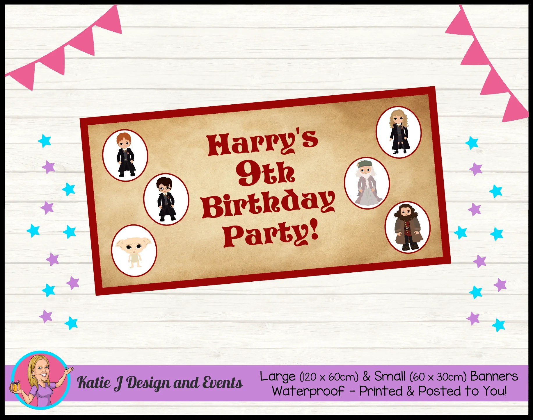 personalised little harry potter party