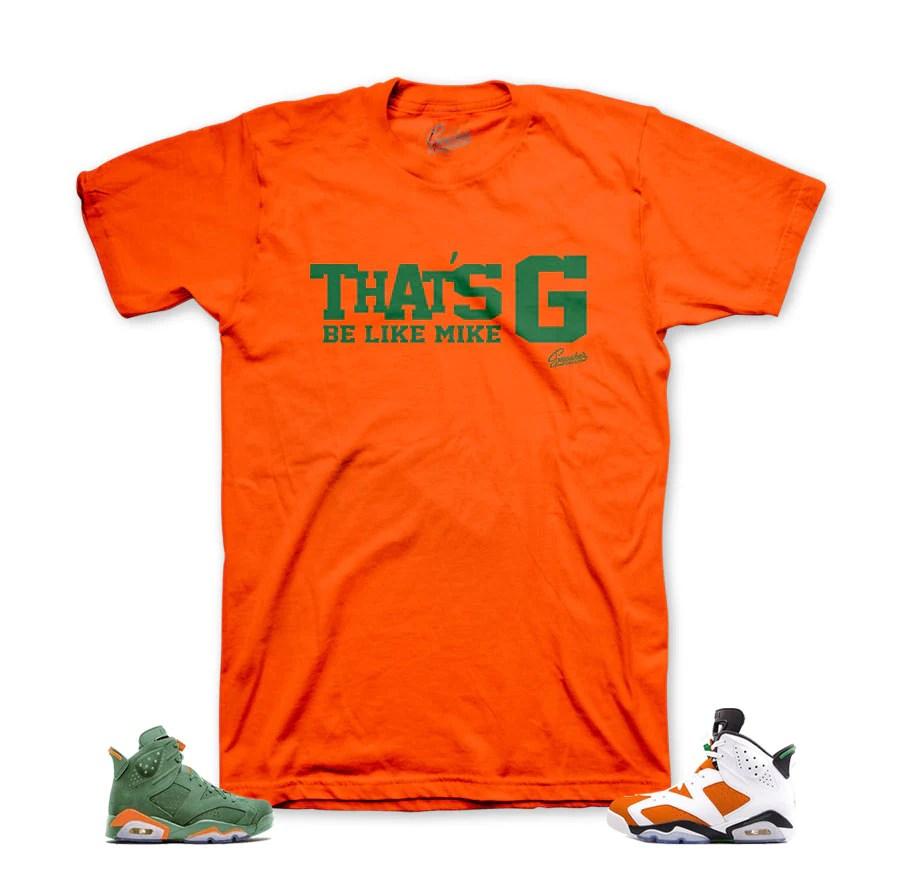 Gatorade Jordan 6 Tees Match Retro Mike Shirts
