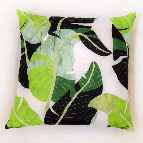 banana leaf palm pillow