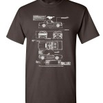 1966 Ford Mustang Gt Blueprint T Shirt American Classic Cotton Tee Ebay