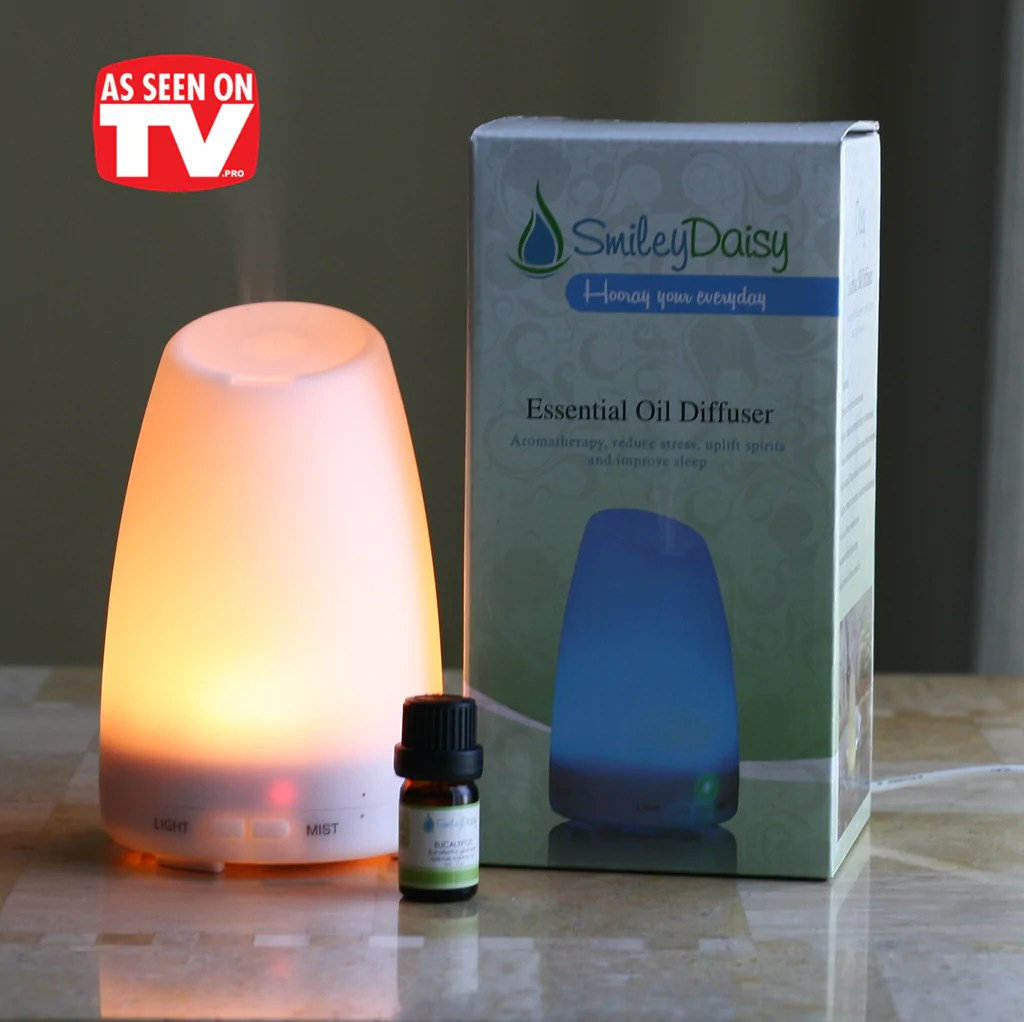 Tv - Smiley Daisy Aromatherapy Diffuser Bundle With 5 Ml 10 Smileydaisy