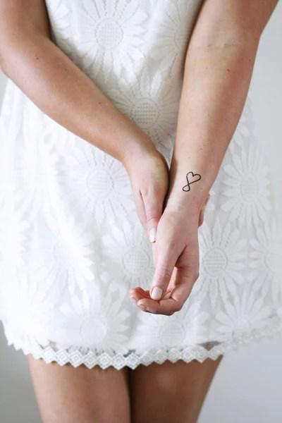 small infinite love temporary tattoo
