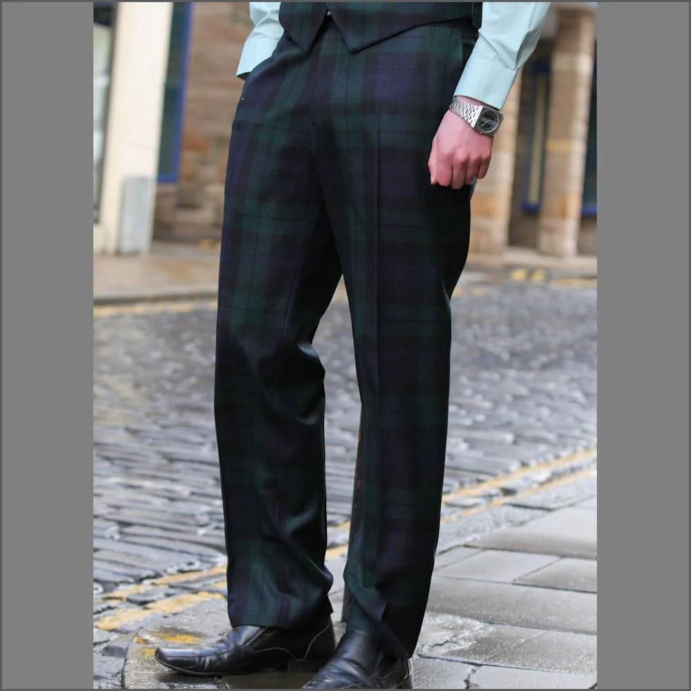 Black Watch Tartan Trousers Cwmenswear
