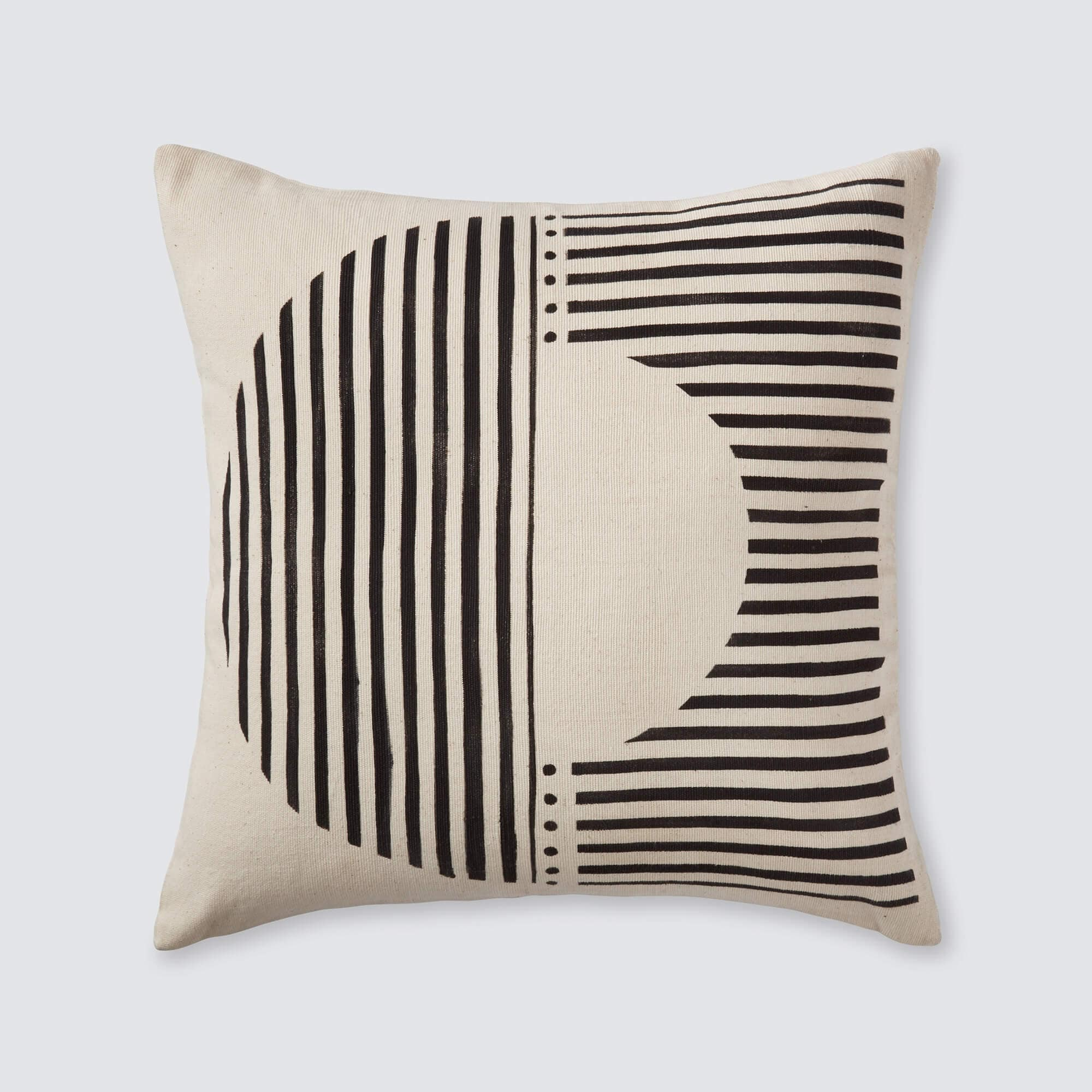 african mud cloth pillows black